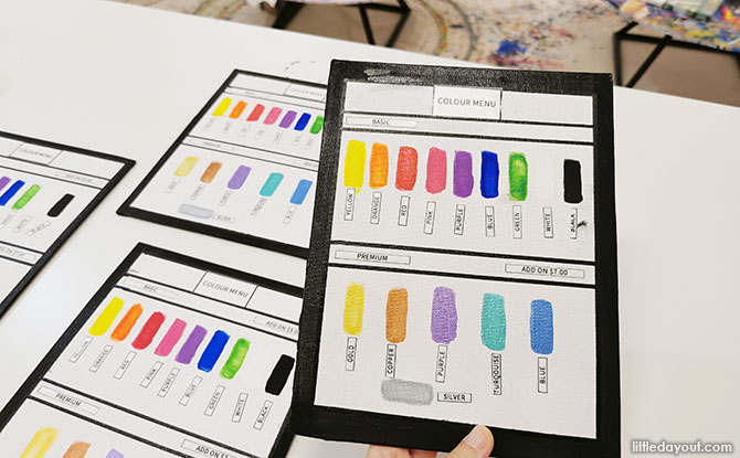 choosing the colours