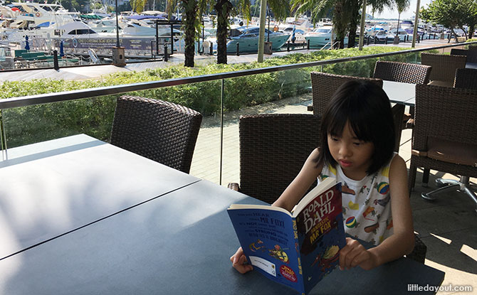Teach children to hold their books at least 30cm away from their eyes and read in good light.