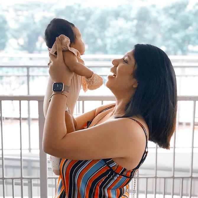 DeeJay Natasha Faisal and Baby Luna