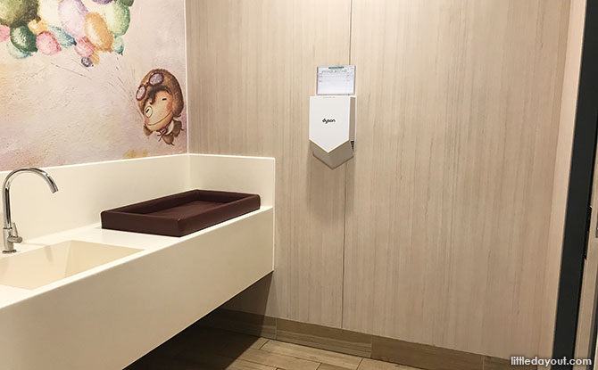 Baby changing station, Northpoint City Nursing Room