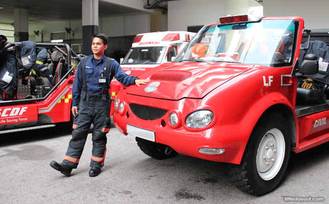 Sergeant Helmi was our guide at the Fire Station Open House