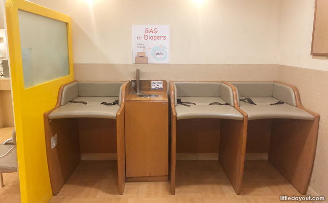 Diaper changing room, Isetan Scotts