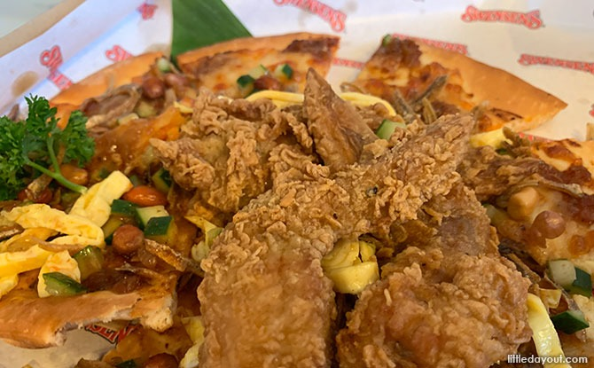 Nasi Lemak Pizza with Boneless Wings