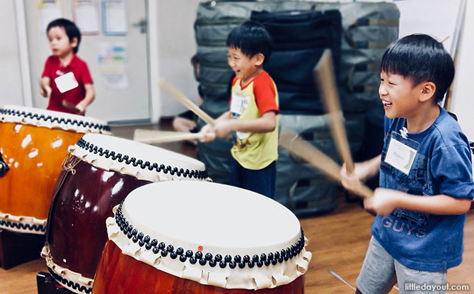 Taiko Drums In Singapore For Kids
