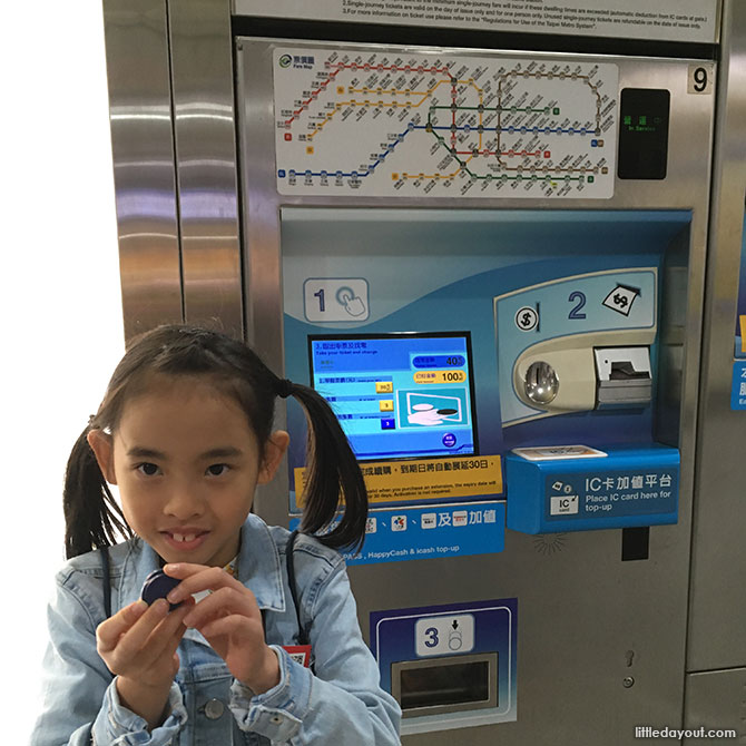 Ticketing Machine, Taipei with Kids