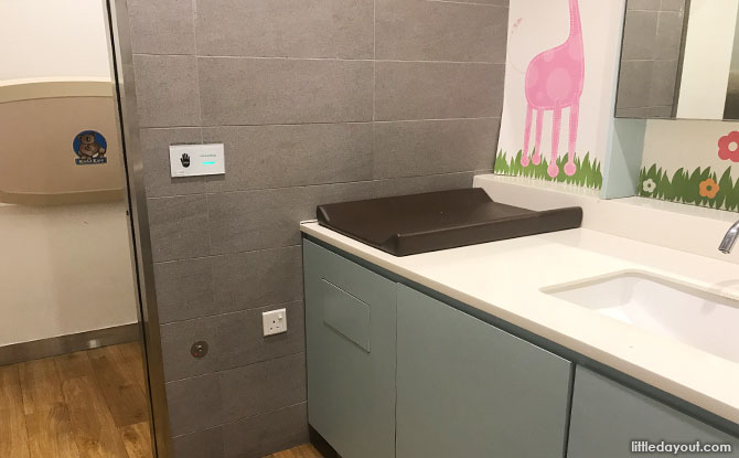 Diaper changing room, The Star Vista Nursing Room