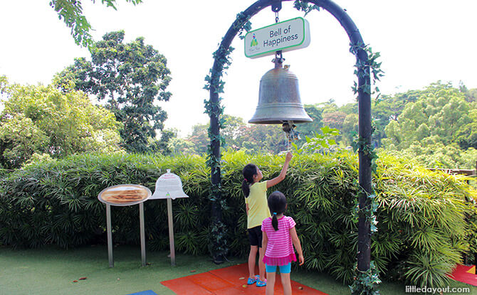 Bell of Happiness at Mount Faber Peak at Mount Faber Park