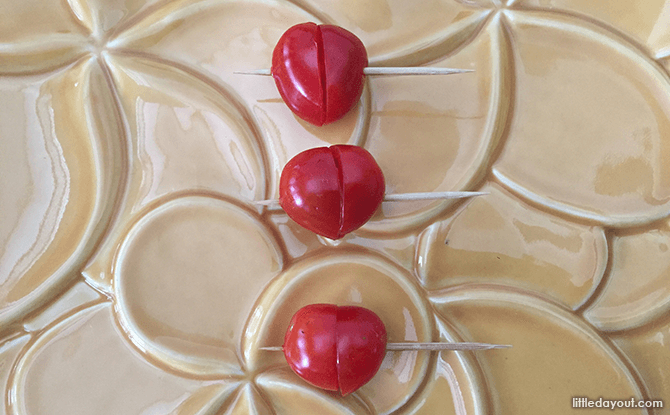 Heart-shaped Foods for Valentine's Day - Cheery Tomato Hearts