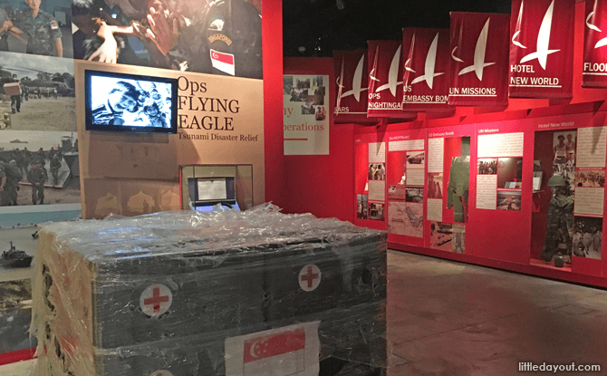 Displays at Army Museum of Singapore