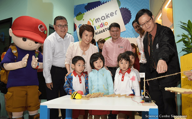 The PlayMaker Studio @ KidsSTOP was launched in a ceremony officiated by Ms Low Yen Ling, Parliamentary Secretary, Ministry of Education.