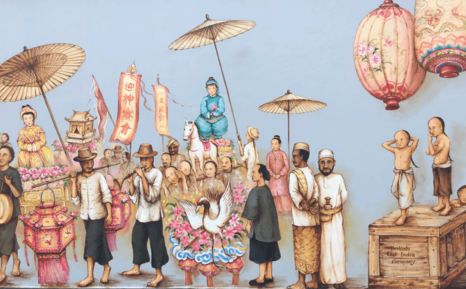 Procession Scene at Thian Hock Keng Mural