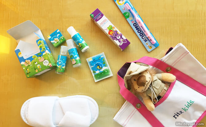 What's in a Ritz Kids bag? Everything that makes a kid feel extra special and welcome as a guest of the hotel!