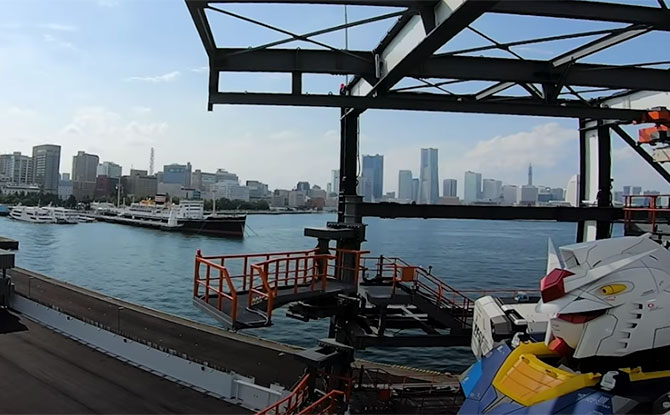 """Gundam-Dock"" and ""Gundam-Lab"" at Gundam Factory Yokohama"