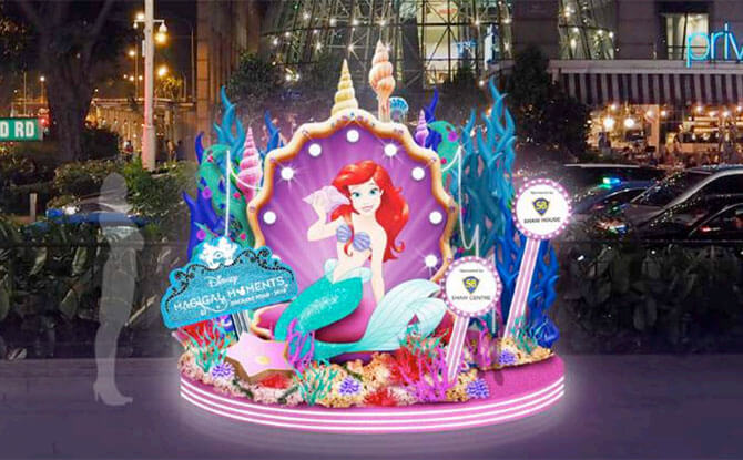 Ariel display - Orchard Road Christmas Light Up 2018