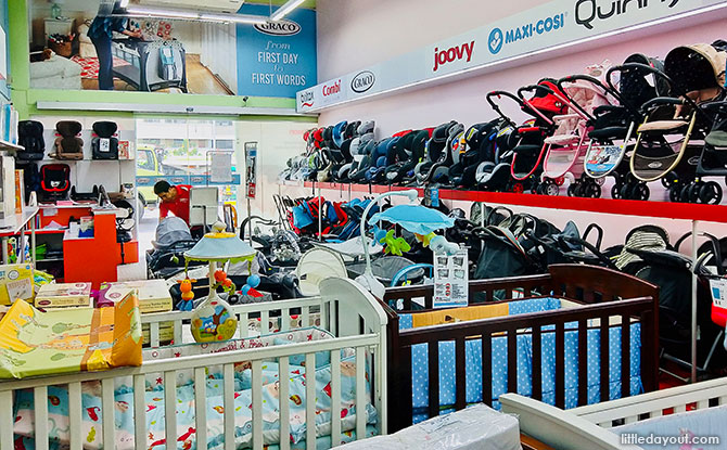 If you're after strollers and playpens from the likes of Combi and Graco, Baby Kingdom is the place to be.
