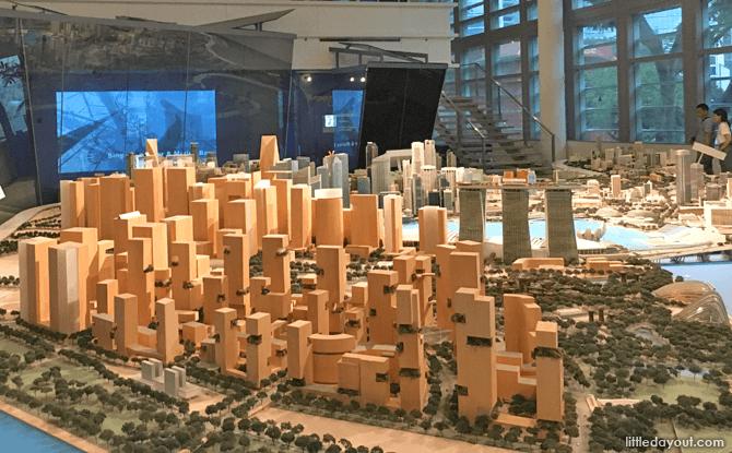 Model of Singapore's CBD