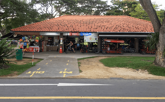 Bike Stop at Lagoon, East Coast Park Bike Rental Kiosk