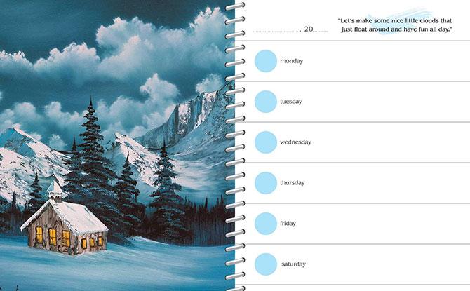 Bob Ross Calendar