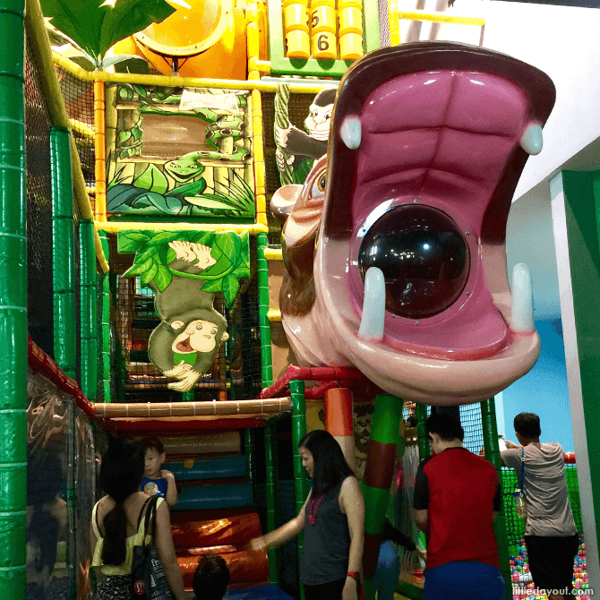 Jungle Play Gym at Amazonia Indoor Playground at Great World City, Singapore