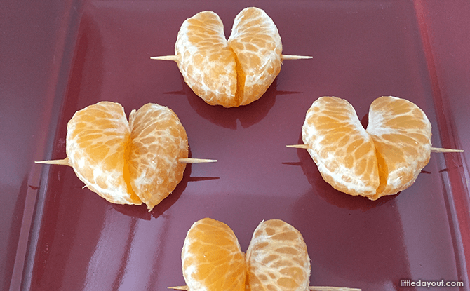 Heart-shaped Foods for Valentine's Day - Mandarin Hearts