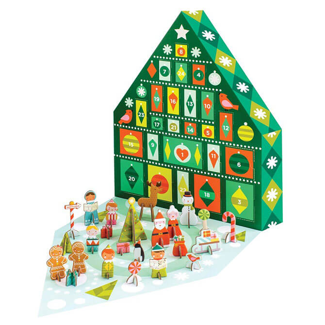 Playhao's Petit Collage Tree Pop-out Advent Calendar