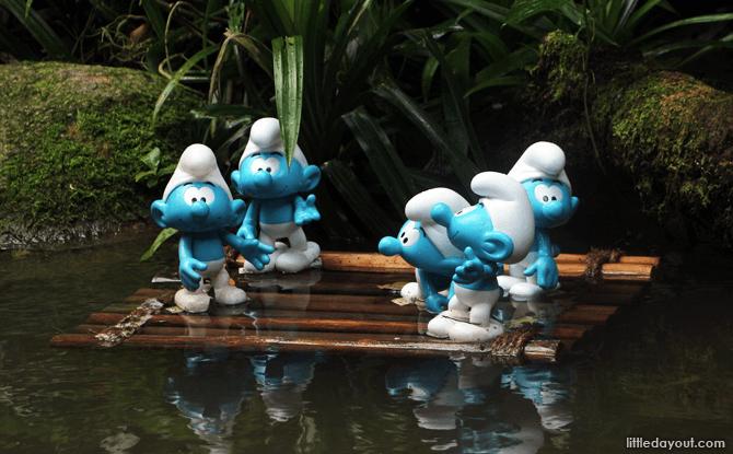 Smurfs at Jurong Bird Park