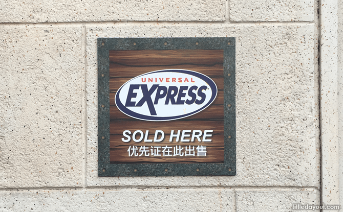 Universal Express is Sold at Universal Studios Singapore