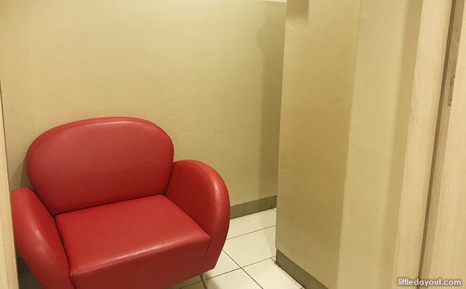 Inside Causeway Point Breastfeeding Room
