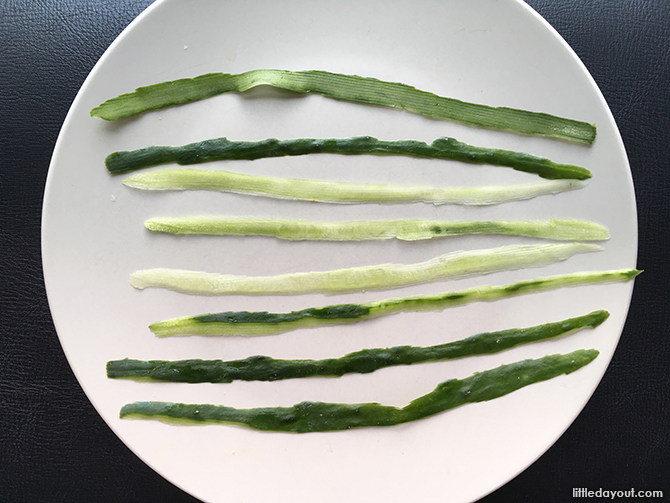 Cucumber strips