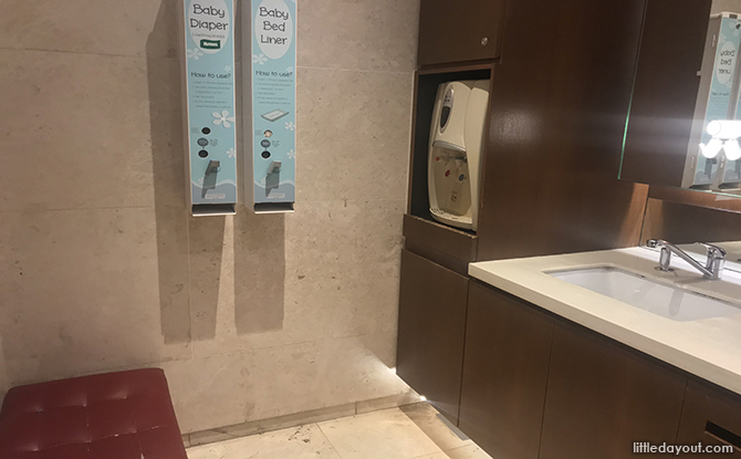ion diaper changing room