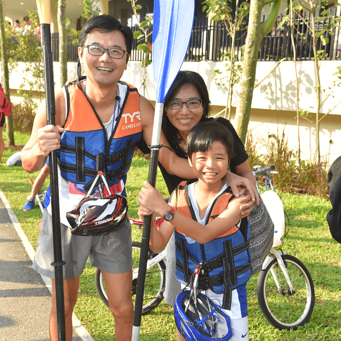 Parent-child bonding, SAFRA Punggol Waterway Challenge 2018