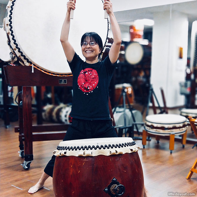 Taiko lessons in Singapore