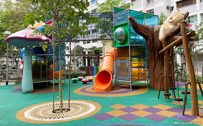Tree at the HDB Alice in Wonderland playground