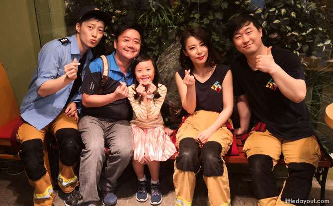 With the cast of Fireman, South Korea