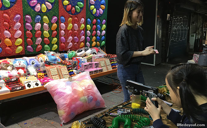 Carnival games at Shilin Night Market