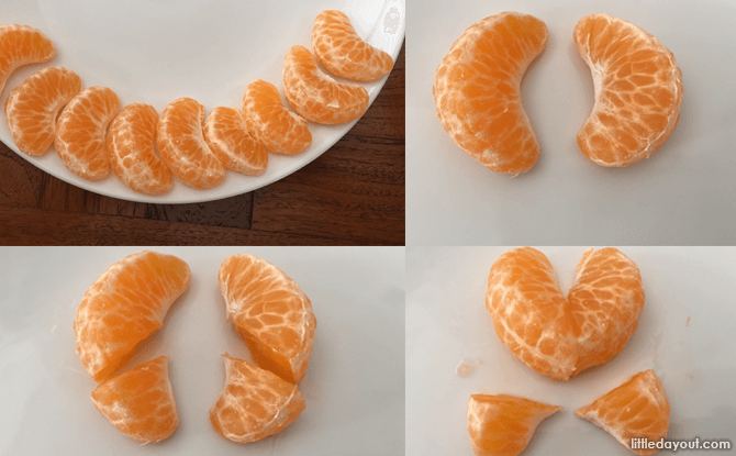 Heart-shaped Foods for Valentine's Day - Steps to Make Mandarin Oranges Hearts