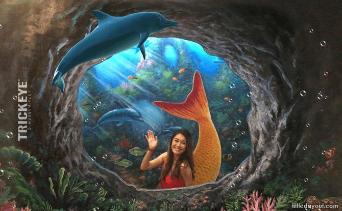 Dolphin at Princess Mermaid, Trick Eye Museum Singapore