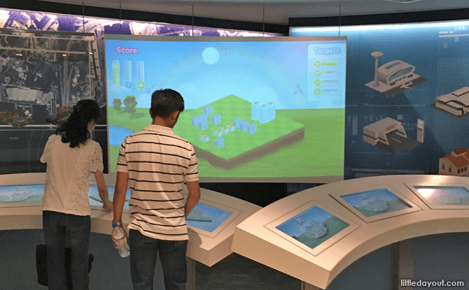 Interactive Activity at Singapore City Gallery