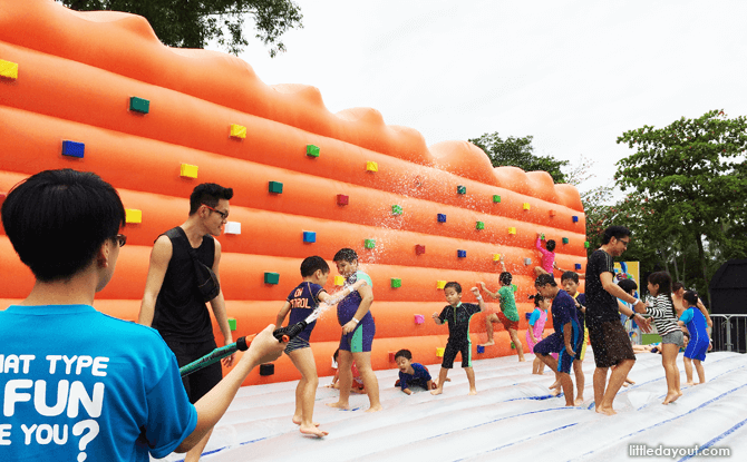 Sentosa FunFest 2016 inflatable traversing wall