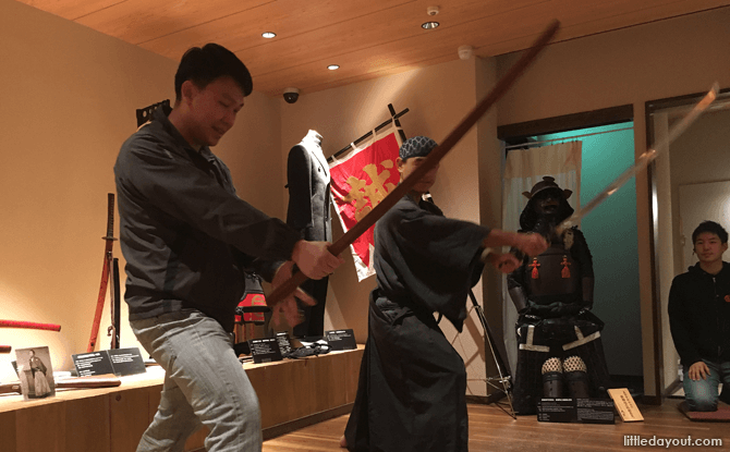 Try out a Samurai sword