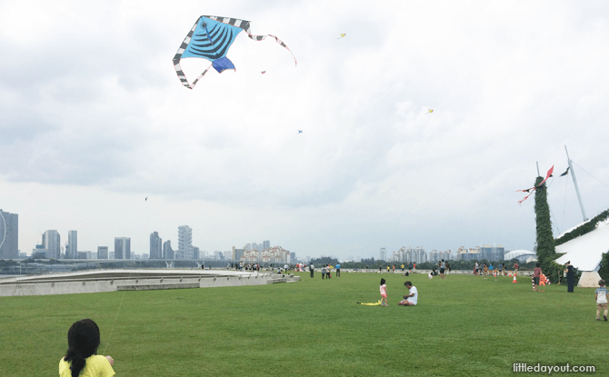 Marina Barrage Kite Flying