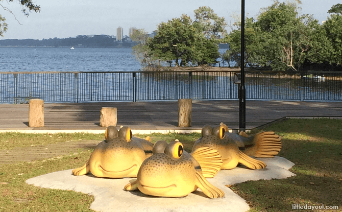 Mudskippers Statues at Sungei Buloh Wetland Reserve's Extension