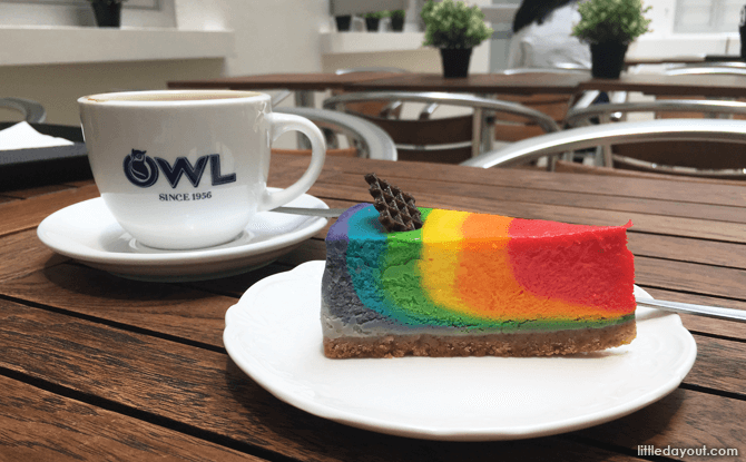 Rainbow Cake at Courtyard Cafe, National Gallery Singapore