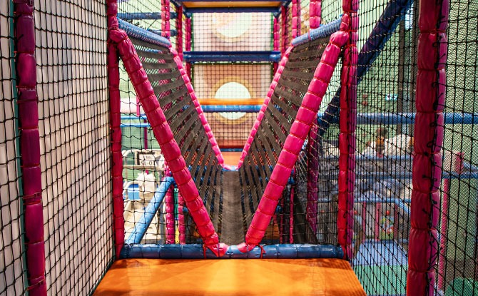 Playframe at the HomeTeamNS Khatib Indoor Playground, T-Play
