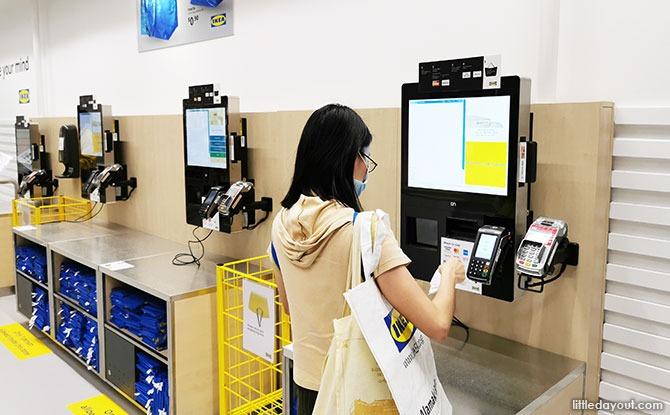 Cashless IKEA store
