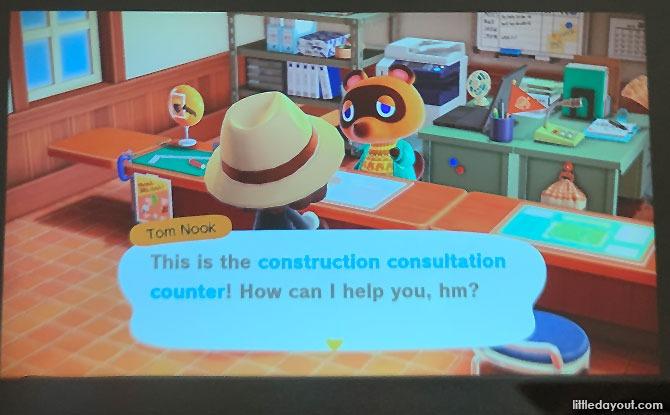 Animal Crossing on Projector