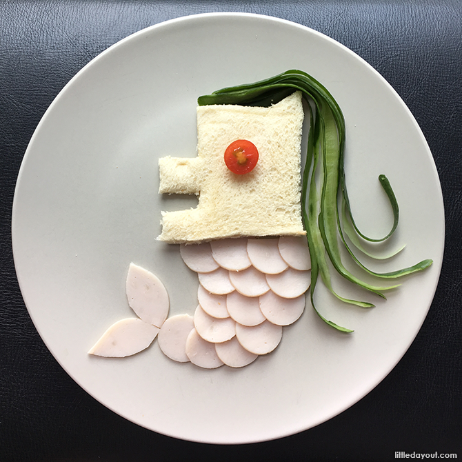 Merlion sandwich - Edible Singapore National Day Crafts