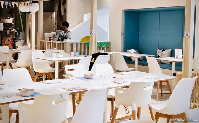Dining at Origami Kids Cafe