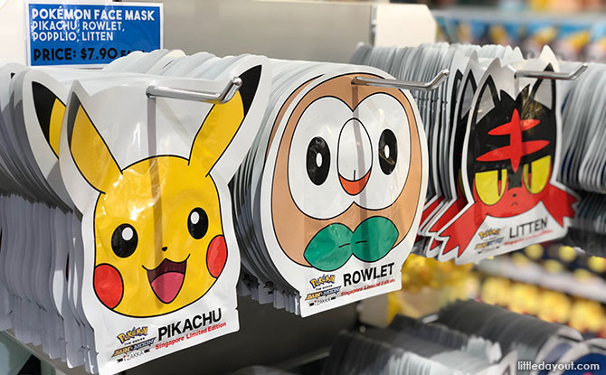 Pokemon facial masks - Pokemon Center Singapore