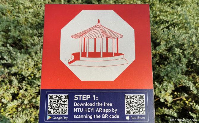 QR codes in Yunnan Garden